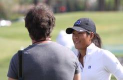 阿那启发高尔夫球比赛的塞利娜Boutier 2015年 库存图片