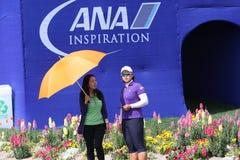 阿那启发高尔夫球比赛的艾米杨2015年 库存照片