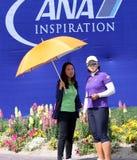 阿那启发高尔夫球比赛的艾米杨2015年 免版税库存图片
