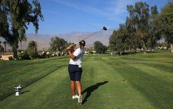 阿那启发高尔夫球比赛的高尔夫球场2015年 免版税图库摄影