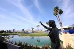 阿那启发高尔夫球比赛的高尔夫球场2015年 图库摄影