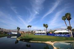 阿那启发高尔夫球比赛的高尔夫球场2015年 库存照片