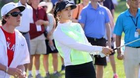 阿那启发高尔夫球比赛的魏圣美2015年 库存图片