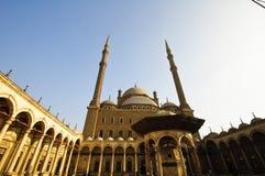 阿里・在清真寺穆罕默德里面的开罗& 免版税库存图片