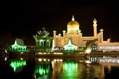 阿里・汶莱清真寺奥马尔saifuddien苏丹 库存照片