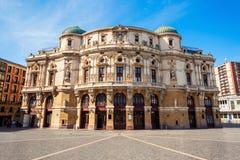 阿里亚加剧院大厦在毕尔巴鄂 免版税库存图片