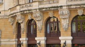 阿里亚加歌剧院老练门面在毕尔巴鄂,新巴洛克式的建筑学 影视素材