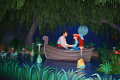阿里埃勒和埃里克-不可思议的王国华特・迪士尼世界 库存图片