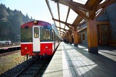 阿里山森林火车站平台 免版税库存图片