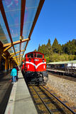 阿里山森林火车站平台 图库摄影