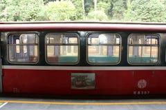 阿里山火车站,台湾- 2015年4月12日 免版税库存图片