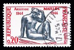 阿里斯蒂德・马约尔(1861-1944),著名艺术家serie,大约1961年 免版税库存照片