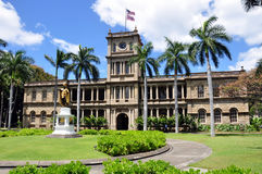 阿里硬朗的夏威夷檀香山iolani 库存图片