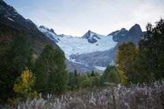 阿里贝克冰川 库存图片