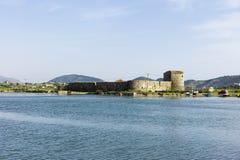 阿里・帕夏・塔帕雷奈城堡,布特林特,阿尔巴尼亚 免版税库存照片