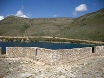 阿里・帕夏・塔帕雷奈堡垒,巴勒莫村庄,阿尔巴尼亚语里维埃拉 免版税库存照片