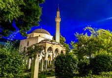 阿里・帕夏・塔帕雷奈的清真寺萨拉热窝 免版税库存照片