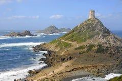 阿雅克修可西嘉岛de法国la parata浏览 免版税库存图片
