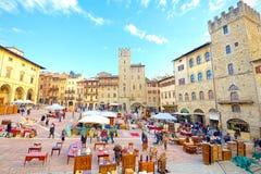 阿雷佐托斯卡纳,意大利2017年1月01日:古董公平在Tourn 免版税库存照片