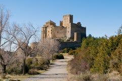 洛阿雷城堡,韦斯卡省,萨瓦格萨, Arragon,西班牙省  图库摄影