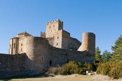 洛阿雷城堡,韦斯卡省,萨瓦格萨, Arragon,西班牙省  免版税图库摄影