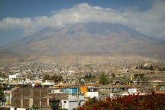 阿雷基帕,秘鲁看法  免版税库存照片