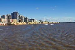 阿雷格里港口岸-南里奥格兰德州-巴西 免版税图库摄影