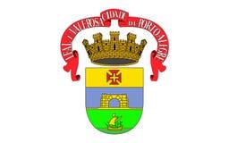 阿雷格里港旗子在南里奥格兰德州,巴西 向量例证