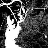 阿雷格里港,巴西区域地图  皇族释放例证