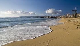 阿雷纳尔海滩el 免版税库存图片