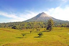 阿雷纳尔火山。哥斯达黎加 库存照片