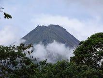 阿雷纳尔火山哥斯达黎加 库存图片