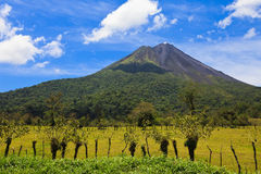 阿雷纳尔火山横向 图库摄影