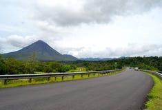 阿雷纳尔火山风景 库存图片