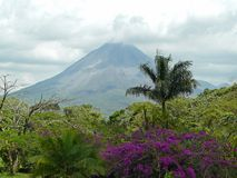 阿雷纳尔火山 库存图片