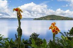 阿雷纳尔肋前缘湖rica 库存照片
