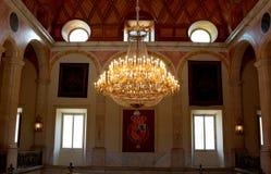 阿雷胡埃斯王宫的前庭的灯  免版税库存照片