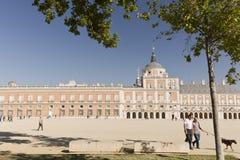 阿雷胡埃斯,马德里,西班牙王宫 库存照片