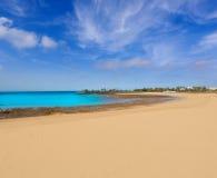 阿雷西费兰萨罗特岛Playa del Reducto海滩 图库摄影