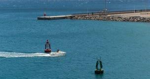 阿雷西费港口 库存图片