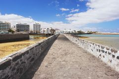 阿雷西费,兰萨罗特岛 免版税库存照片