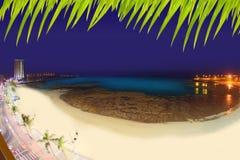 阿雷西费Lanzarote Playa del Reducto海滩 库存图片