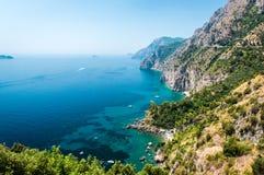 阿马尔菲海岸。意大利 图库摄影