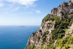 阿马尔菲海岸在意大利,欧洲 免版税图库摄影