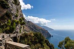 阿马尔菲海岸在意大利,欧洲 免版税库存图片