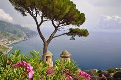 阿马尔菲海岸的,意大利拉韦洛 免版税库存照片