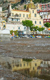 阿马尔菲海岸-波西塔诺 免版税图库摄影