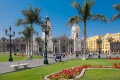 阿马斯广场在利马秘鲁 免版税库存图片