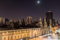 阿马斯广场广场在圣地亚哥 库存照片