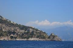 阿马飞海岸,意大利,联合国科教文组织 库存照片